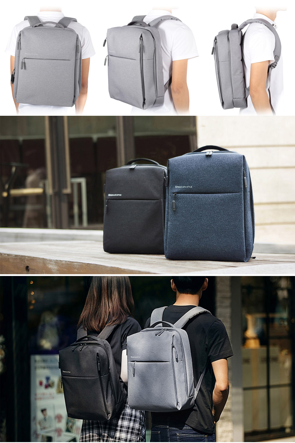 Original Xiaomi 14 inch Urban Style Polyester Leisure Backpack ...