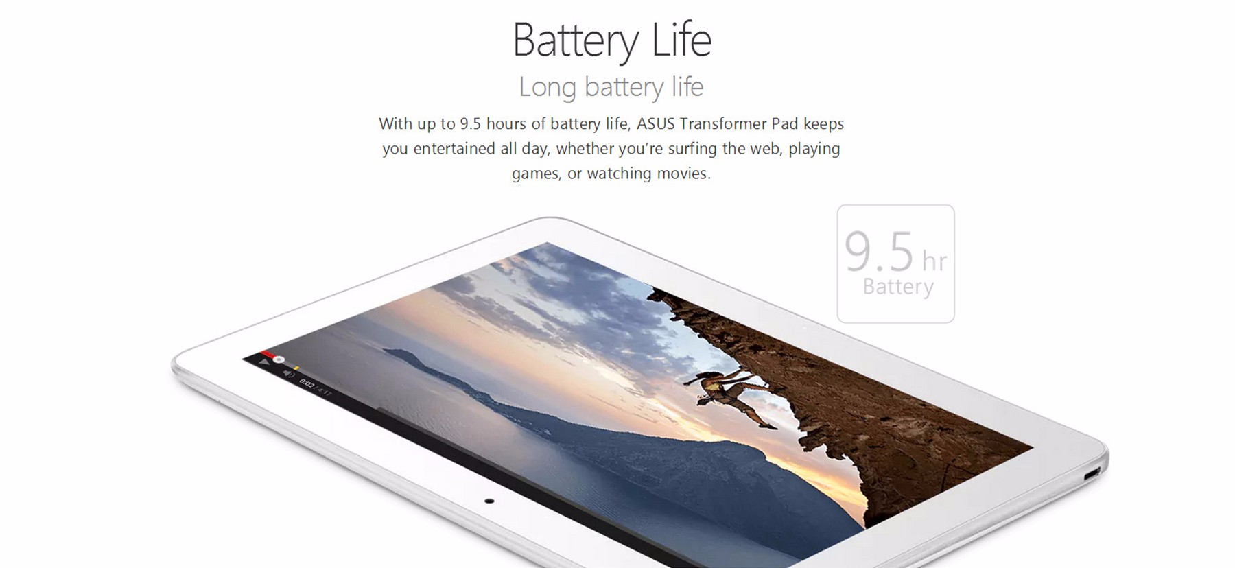 ASUS Transformer Pad TF103CE Tablet PC 10.1 inch IPS LED Backlight Screen Android 5.0 Intel Atom Z3745 64bit Quad Core 1.33GHz 2GB RAM 16GB ROM E-compass Sensor GPS OTG