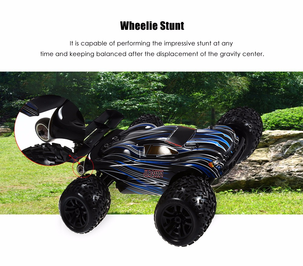 JLB Racing 21101 1:10 4WD RC Brushless Off-road Truck 80km/h 2.4GHz 2CH with Splashproof Anti-shock Wheelie Function