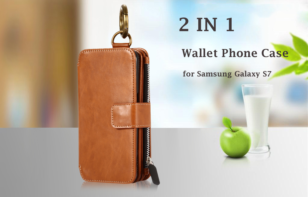 Crazy Horse Leather Wallet Pocket Protective Phone Case with Card Slots for Samsung Galaxy S7