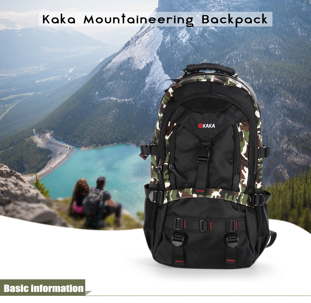 Kaka 2020 Water-resistant Oxford 40L Mountaineering Backpack with Nylon Lining