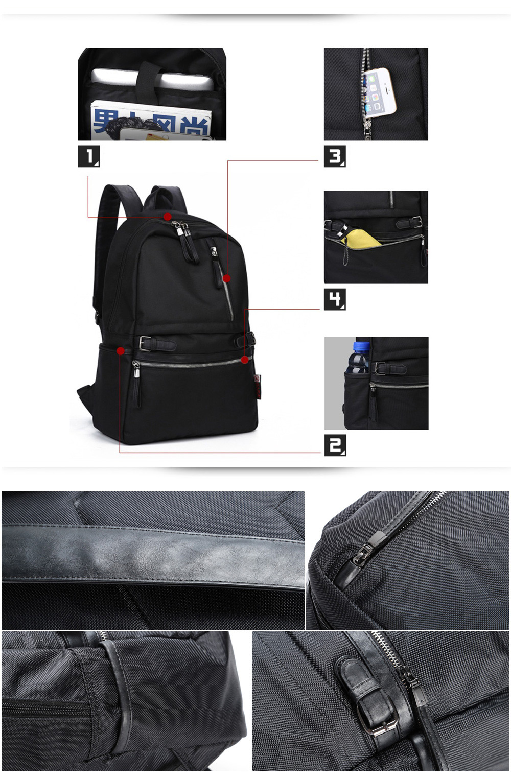 Kaka 2188 20L Leisure Backpack 14 inch Laptop Bag with Polyester Lining