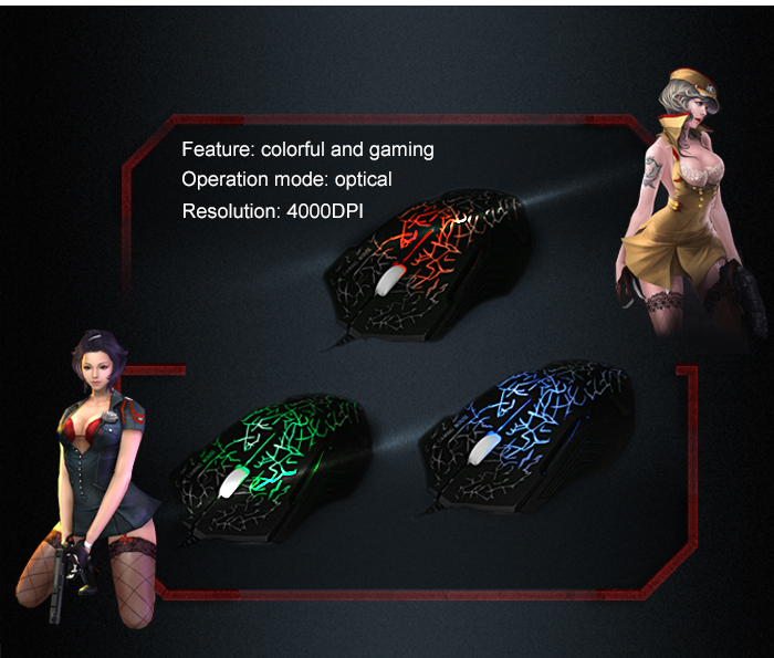 X9 USB Wired Optical Gaming Mouse Game Mice