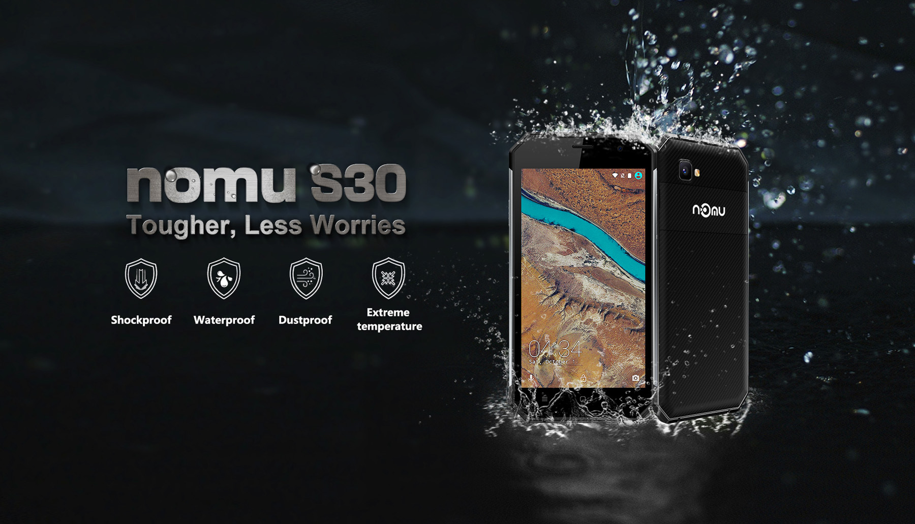 Nomu S30 Android 6.0 5.5 inch 4G Phablet MTK6755 2.0GHz Octa Core 4GB RAM 64GB ROM 5.0MP + 13.0MP Cameras