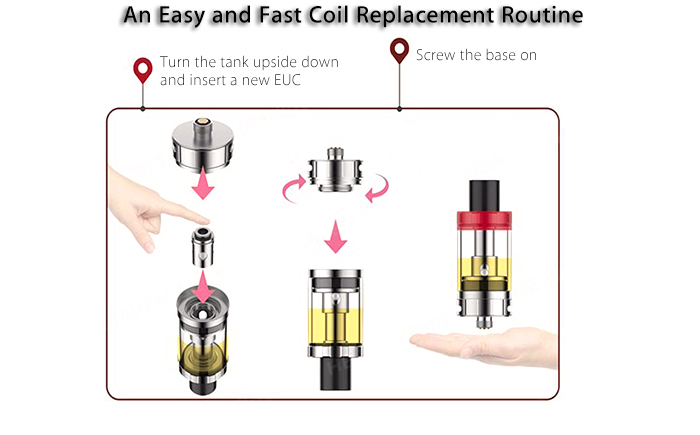Original VAPORESSO Estoc Tank Mega Clearomizer with 0.5 ohm / Top Filling / Adjustable Bottom Airflow for E Cigarette