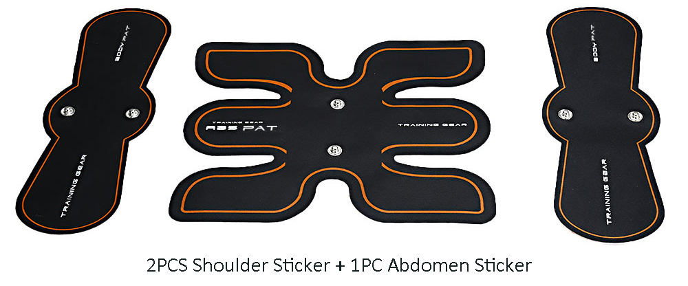 SHANDONG Muscle Training Gear Accessories Set 2PCS Shoulder Sticker + 1PC Abdomen Sticker