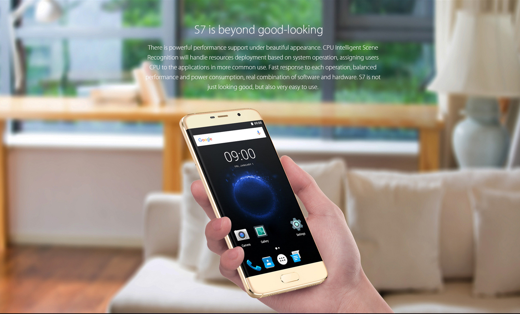 Elephone S7 5.5 inch 4G Phablet Android 6.0 Helio X20 Deca Core 2.0GHz FHD Screen 13.0MP + 5.0MP Cameras Fingerprint Sensor