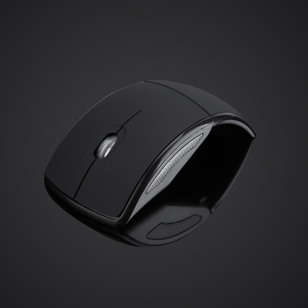 E05 2.4GHz Foldable Wireless Mouse with 1600DPI Mini Snap-in Receiver for Laptop