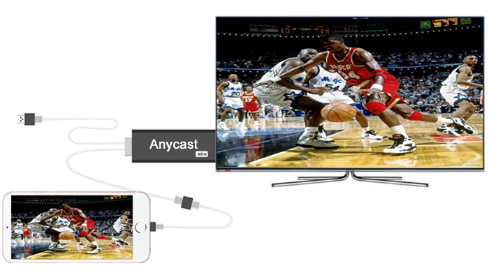 Anycast Wire i7 Actions AM8252 TV Stick WiFi Receiver Linux OS AirPlay Mini PC
