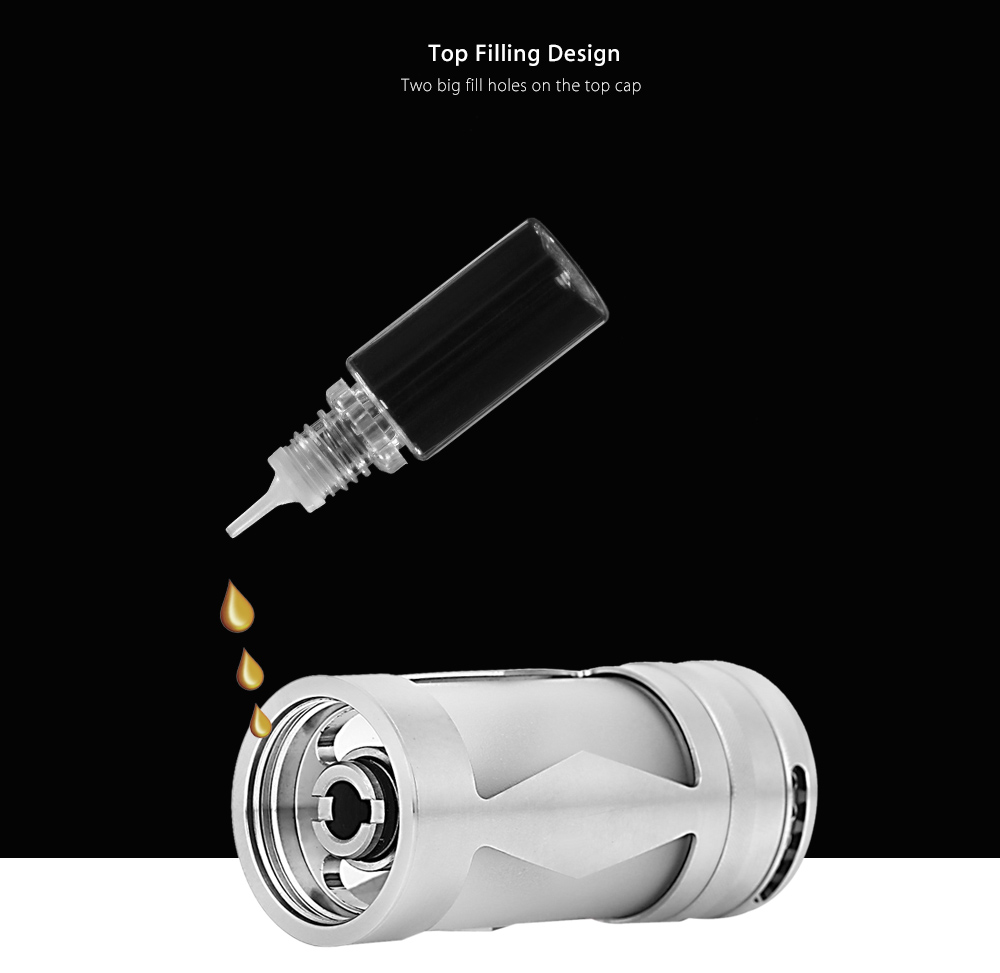 Coppervape Tf GT 3 RTA 316SS E Cigarette Rebuildable Tank Atomizer with 5ml Capacity / Dual-post Design Deck / Bottom Adjustable Air Holes / Juice Flow Control