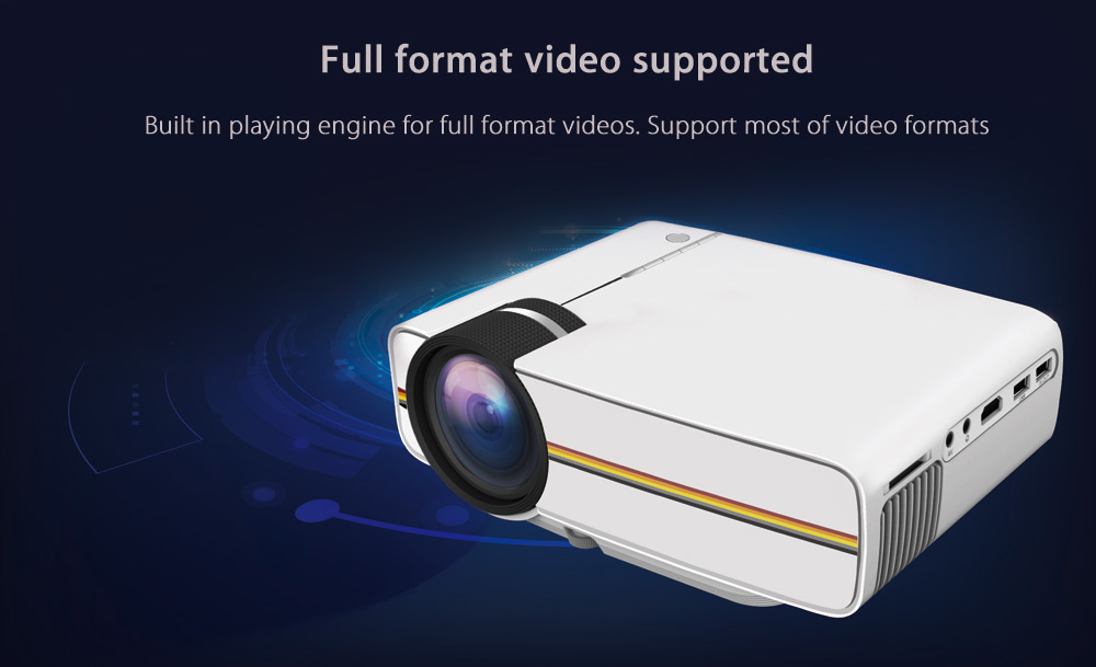 YG400 LCD Projector 1200Lm 800 x 480 Pixels 1080P Home Theater