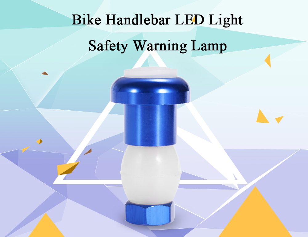 LED Bike Handlebar Light Bicycle Safety Warning Lamp Cycling Accessories