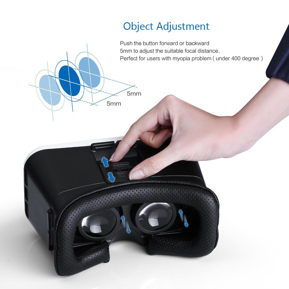 HABOR VR 3D Glasses Support IPD Object Adjustment for 4.0 - 6.0 inch Phones