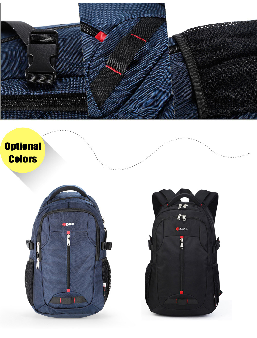 Kaka 88002 Oxford 25L Leisure Backpack 14 inch Laptop Bag with Nylon Lining