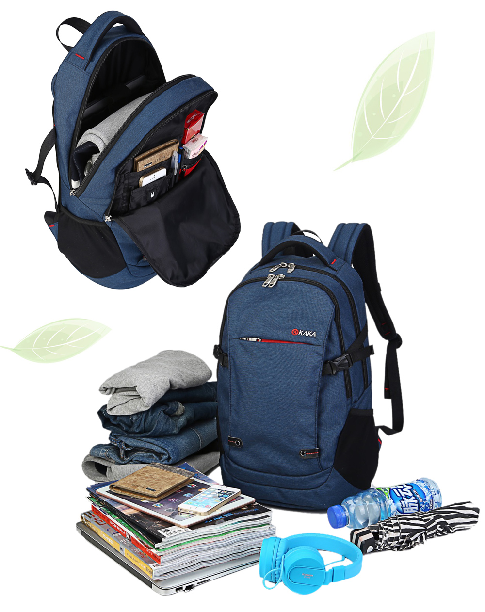 Kaka 88001 Oxford 25L Leisure Backpack 15 inch Laptop Bag with Nylon Lining