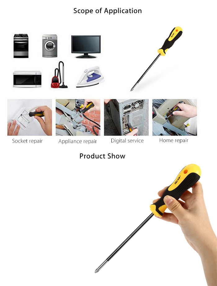 ELECALL 0826 Cross Head Screwdriver Repair Hand Tool for Home Industry