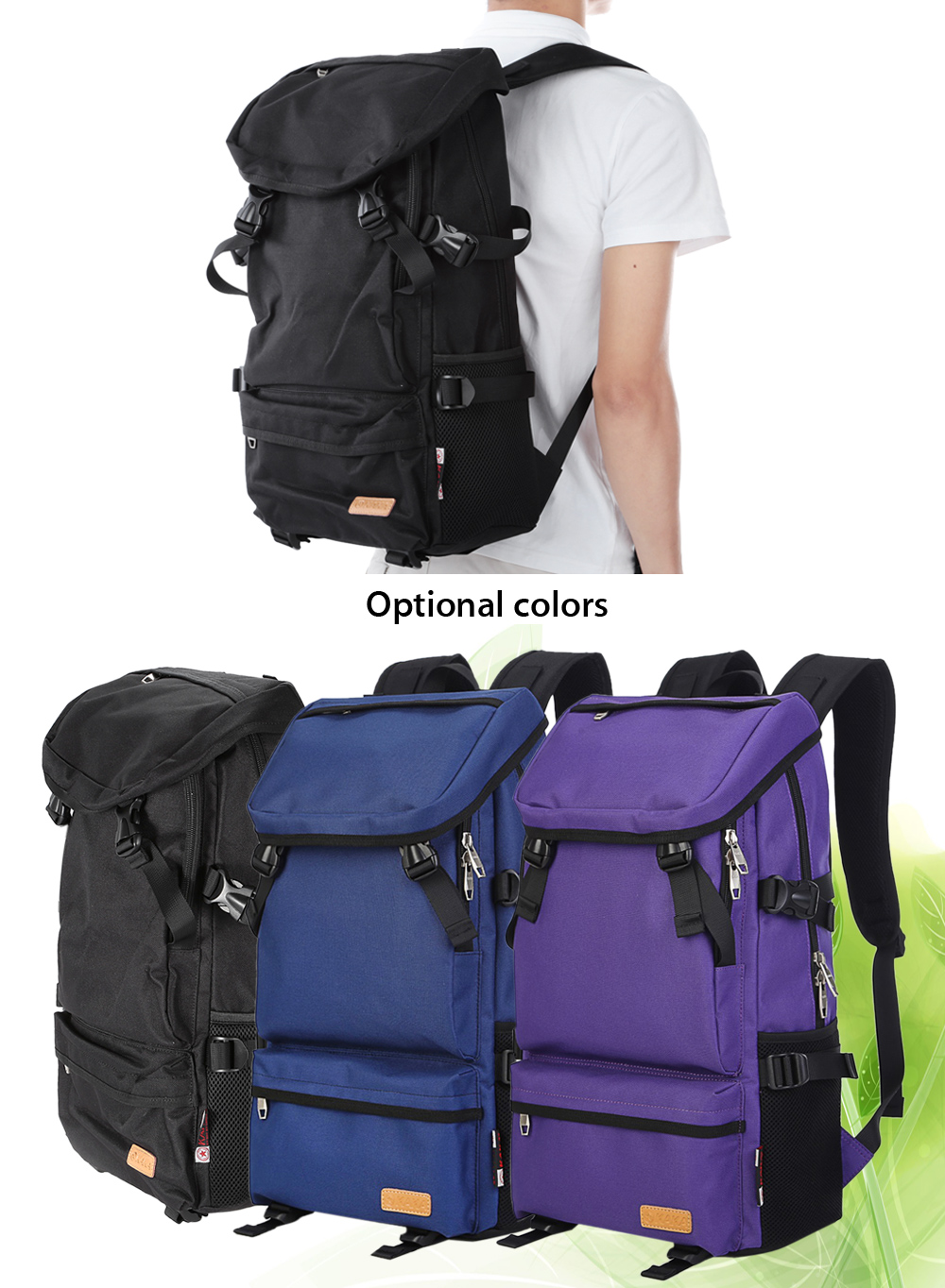 Kaka 88005 Oxford 35L Leisure Backpack 16 inch Laptop Bag with Nylon Lining