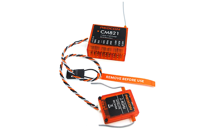 REDCON CM821 2.4GHz 8CH Receiver with Satellite for Drones Fixed-wing Airplanes Helicopters Ships Cars