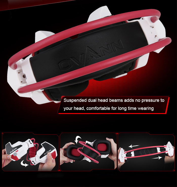 OVANN X60 - C Professional Gaming Headsets Suspended Headband Volume Control