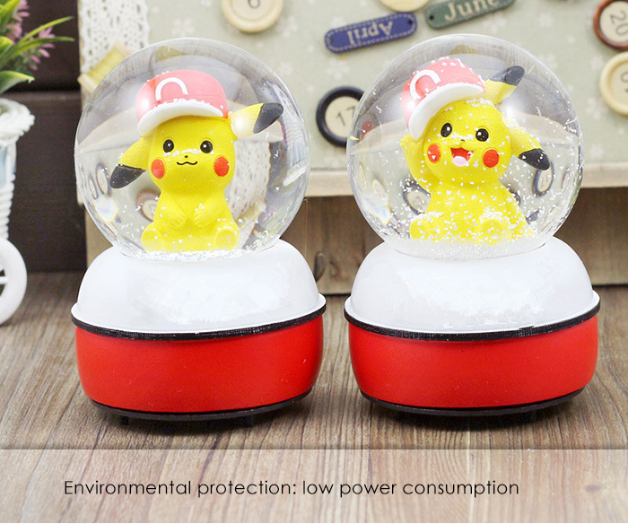 5.3 inch 3D Colorful LED Light Crystal Toy Cartoon Figure Style Decor - 1pc