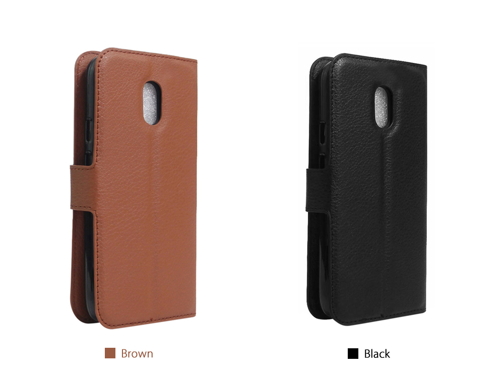 Litchi Grain PU Leather Full Body Protective Case with Wallet Card Slots Mobile Bracket for Xiaomi Redmi Pro