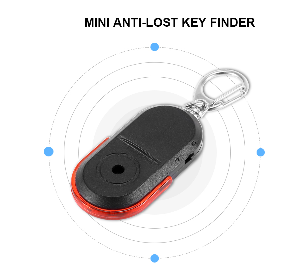 Mini Whistle Anti-lost Key Finder Ring Voice Control