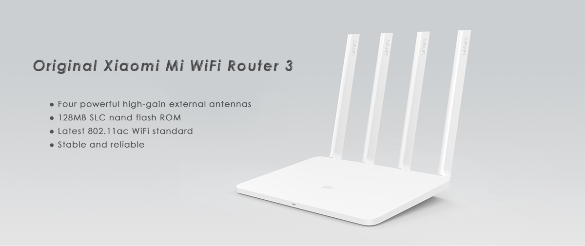 Original English Version Xiaomi Mi WiFi Router 3 1167Mbps 2.4GHz 5GHz Dual Band 128MB Flash ROM with 4 Antennas