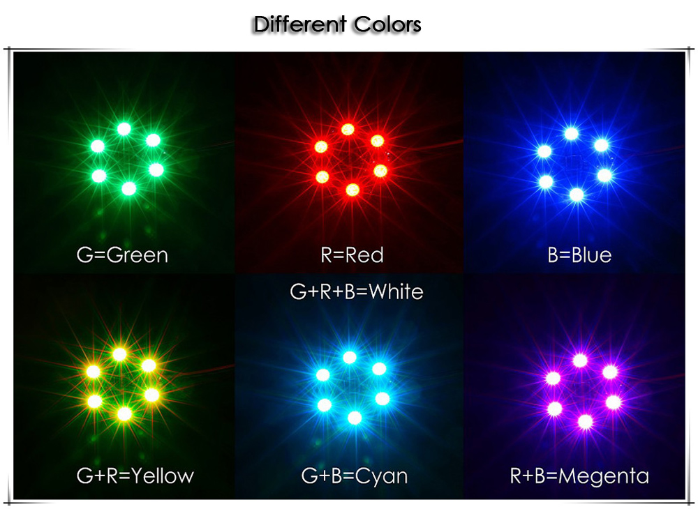 Matek Systems RGB5050 X8 16V Circular LED Board with 7 Colors for RC Toys