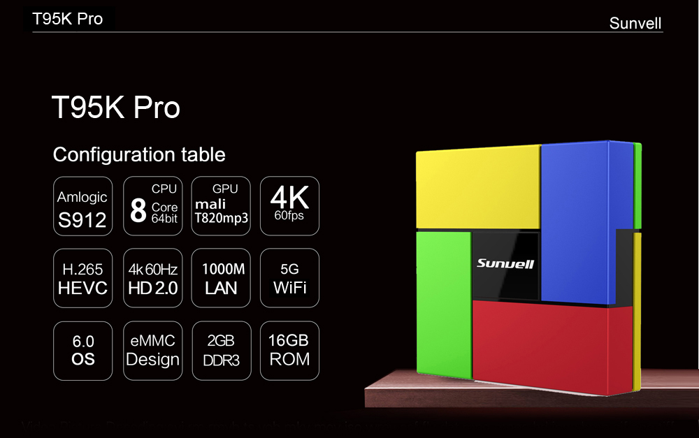 Sunvell T95K Pro Android 6.0 TV Box