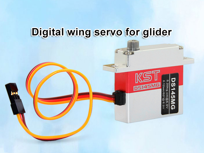 KST DS145MG 5.2KG Wing Servo Accessory for Glider Fixed-wing Aircraft DIY