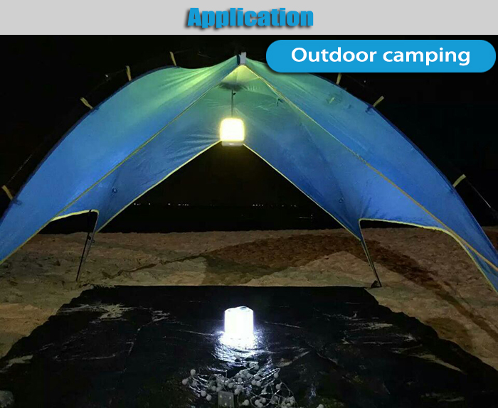 Old Shark Cube LED Solar Energy Lantern Waterproof Folding Lamp