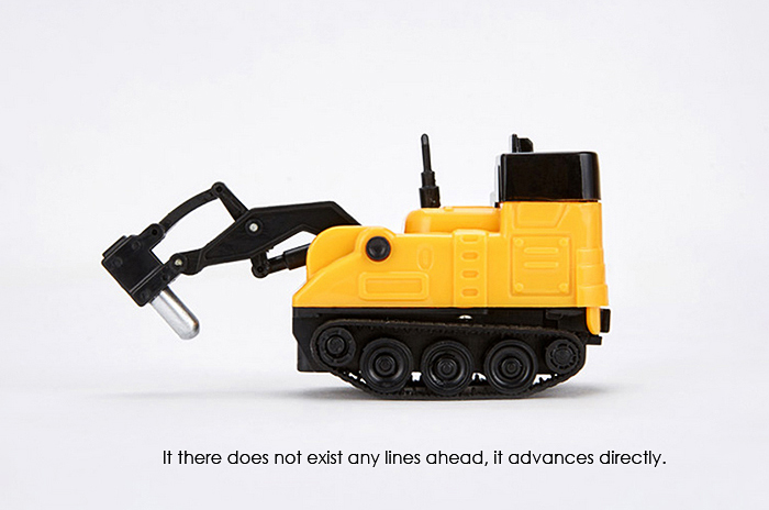 Mini Path-following Inductive Truck with Optical Sensor for Kids
