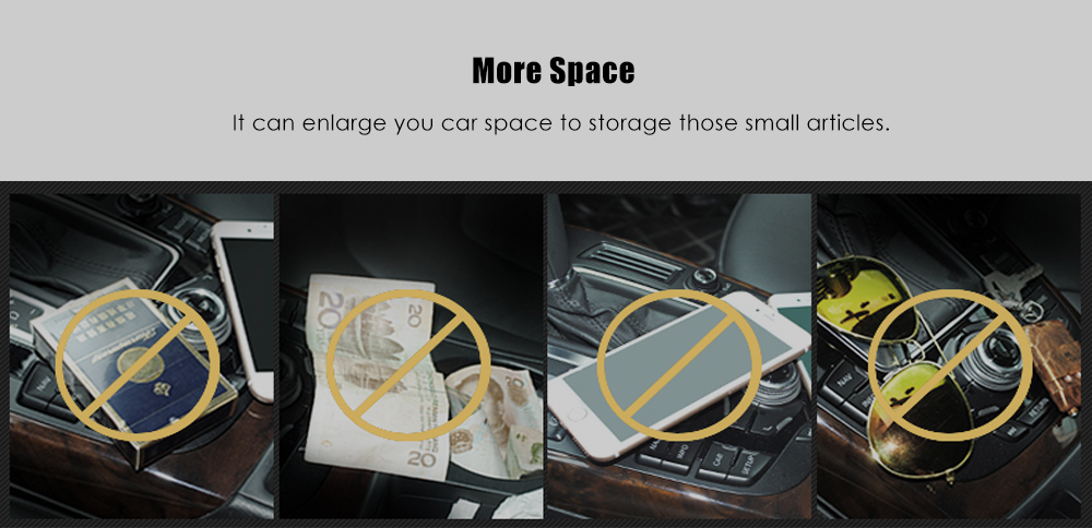 2 PCS Resilient PP Material Seat Gap Storage Box for Car