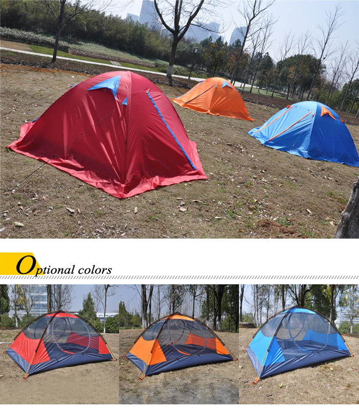 Hasky CY - 220 Water-resistant Polyester 2-person Camping Tent with Thickened PU-coated Layer