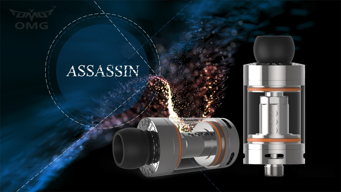 Original OMG Assassin 4ml Clearomizer with 27ml Stainless Steel E-liquid Bottle / 0.25 ohm / 0.5 ohm Coil / Top Filling for E Cigarette