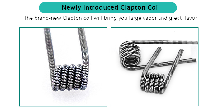 Original Wismec IndeReserve RDTA with Open Wicking System / 4.5ml Tank Capacity / Side Filling Design / 0.5 ohm Clapton Coil for E Cigarette