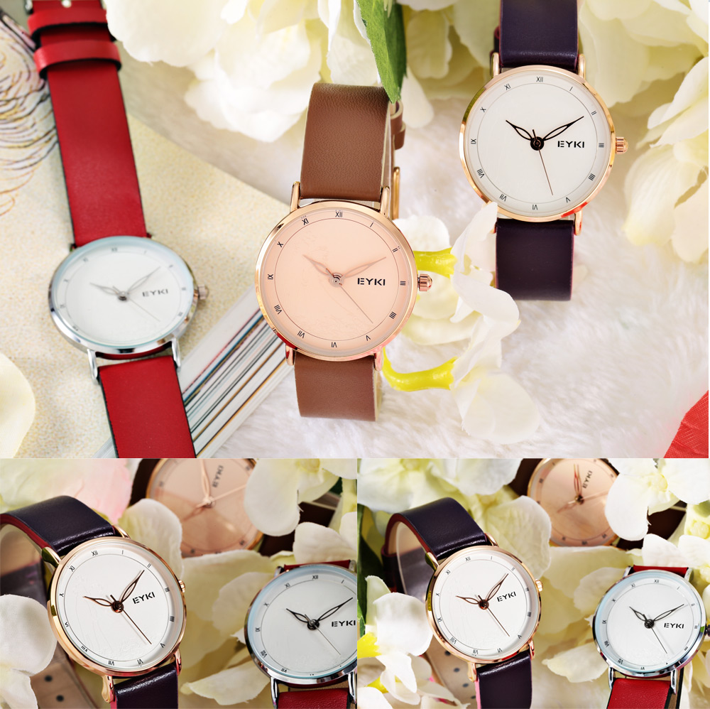 EYKI 1058 Fashion Women Quartz Watch with Magpie Bridge Meeting Pattern Dial