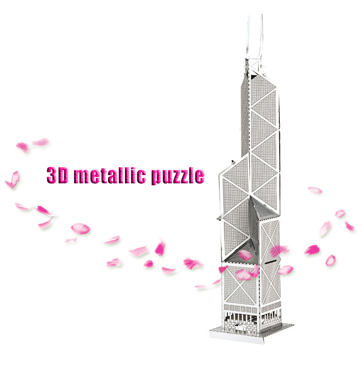 ZOYO 3D Bank of China Tower Model Metallic Building Puzzle Educational Assembling Toy