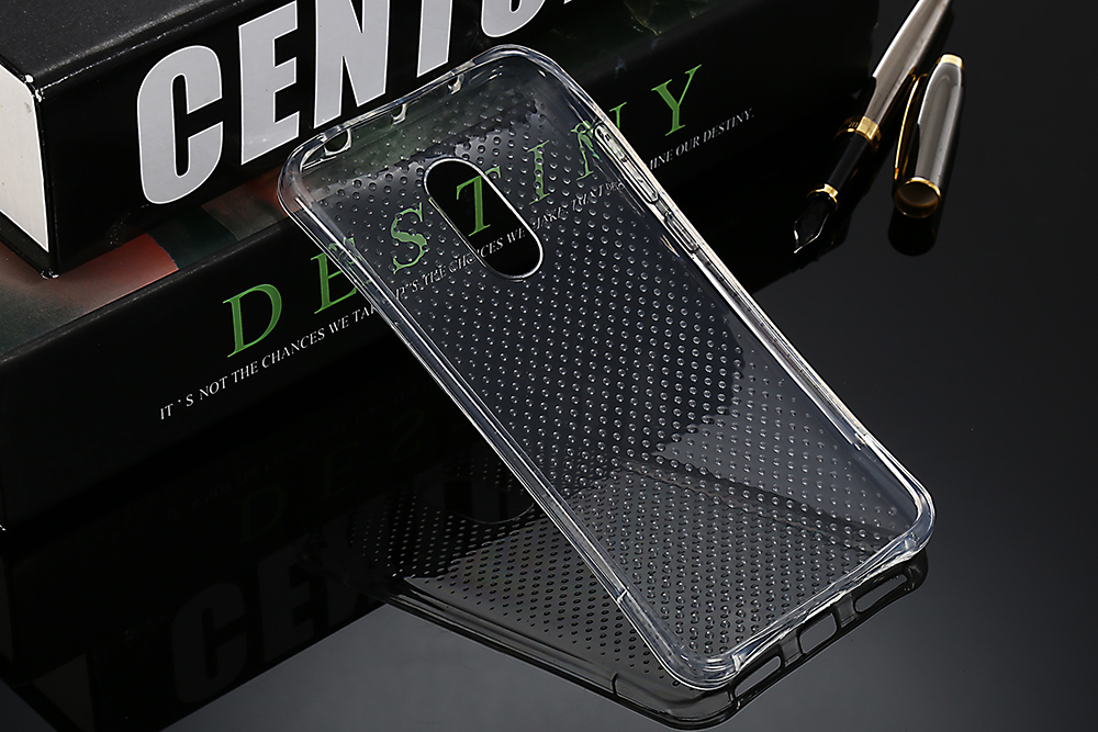 Transparent TPU Soft Case Protective Cover for Xiaomi Redmi Note 4 Salient Points Design Phone Protector