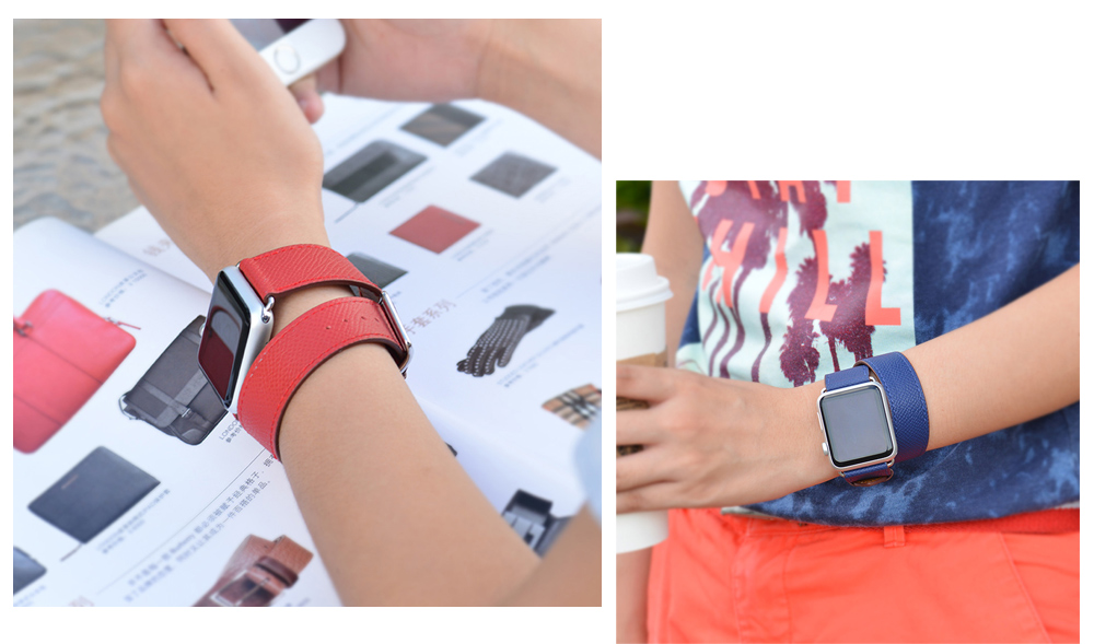 HOCO Genuine Leather Watch Strap Wristband Replacement Lichee Pattern for Apple Watch 42mm
