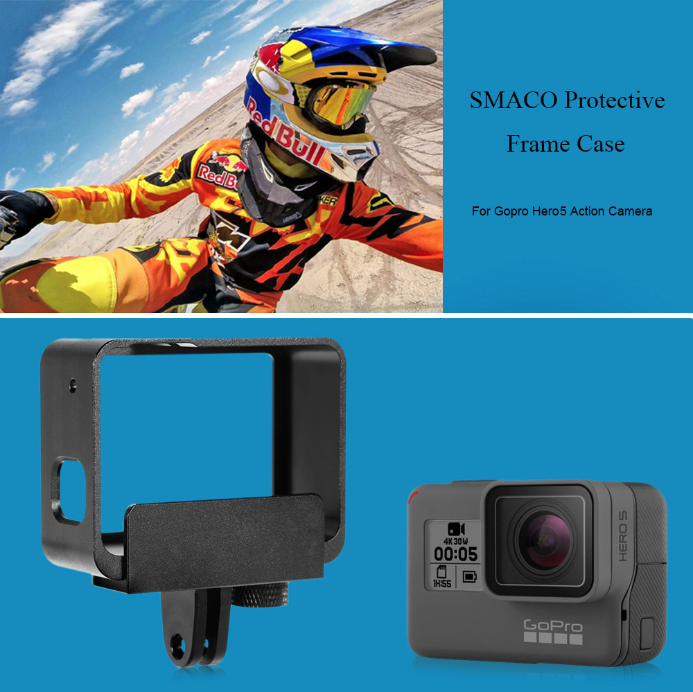 SMACO Aluminum Alloy Protective Case for GoPro Hero5