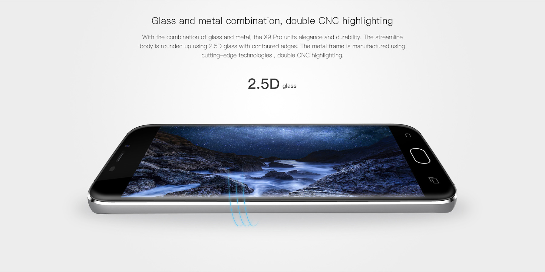 DOOGEE X9 Pro Android 6.0 5.5 inch 4G Phablet MTK6737 Quad Core 1.3GHz 2GB RAM 16GB ROM Fingerprint Scanner GPS