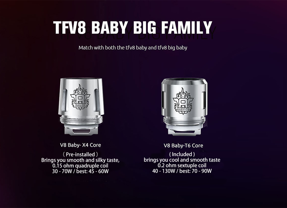 Originale SMOK TFV8 BIG BABY Clearomizer