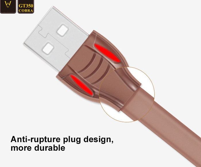 Xianwei Micro USB to USB 2.0 Data Sync 2A Fast Charging Cable Snake Design Smart LED Light - 1.2m