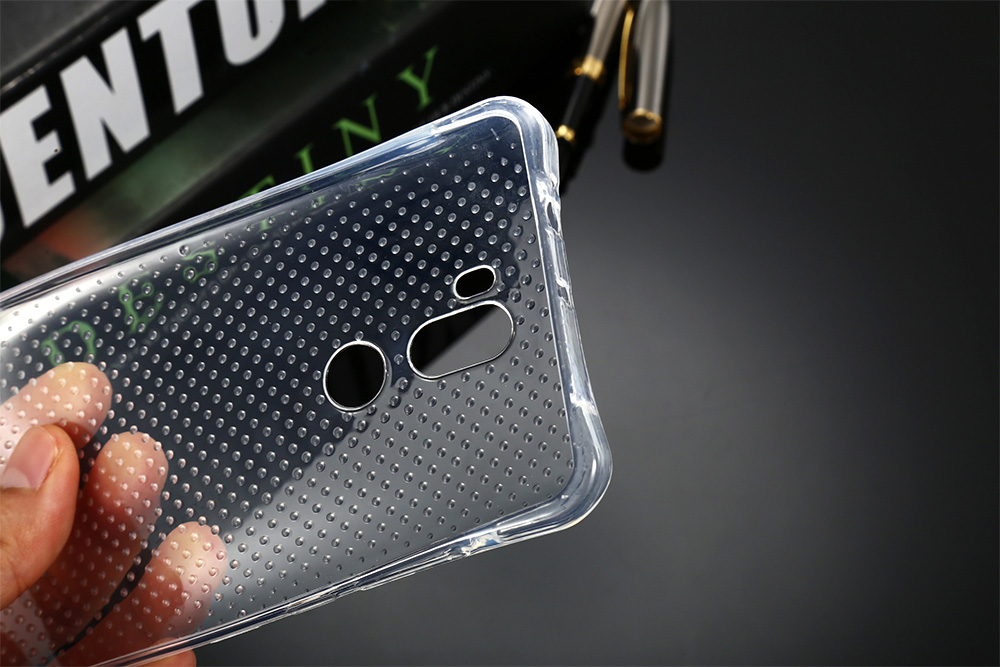 Transparent TPU Soft Case Protective Cover for Xiaomi 5S Plus Salient Points Design Phone Protector