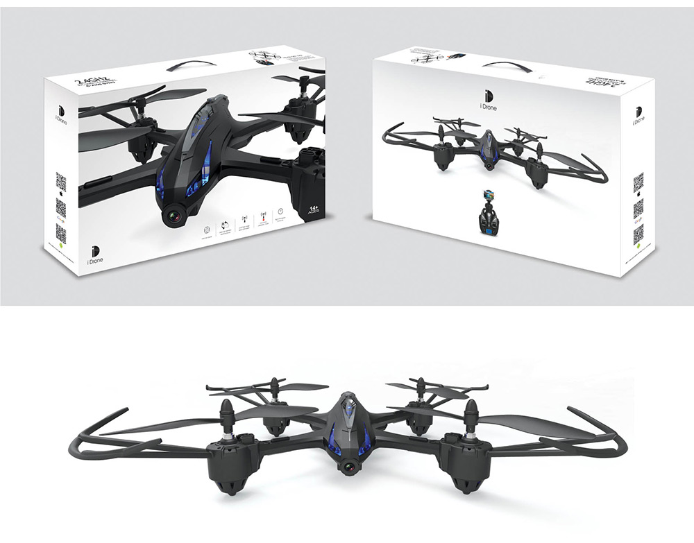 i Drone i9 RC Quadcopter RTF with 2MP Camera 2.4GHz 4CH 6-axis Gyro Headless Mode One Key Return