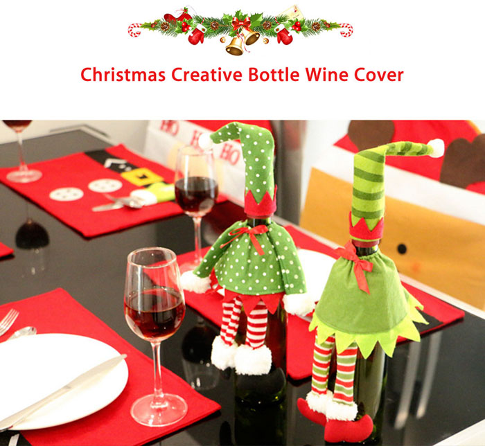 Christmas Party Wine Bottle Cover Decoration