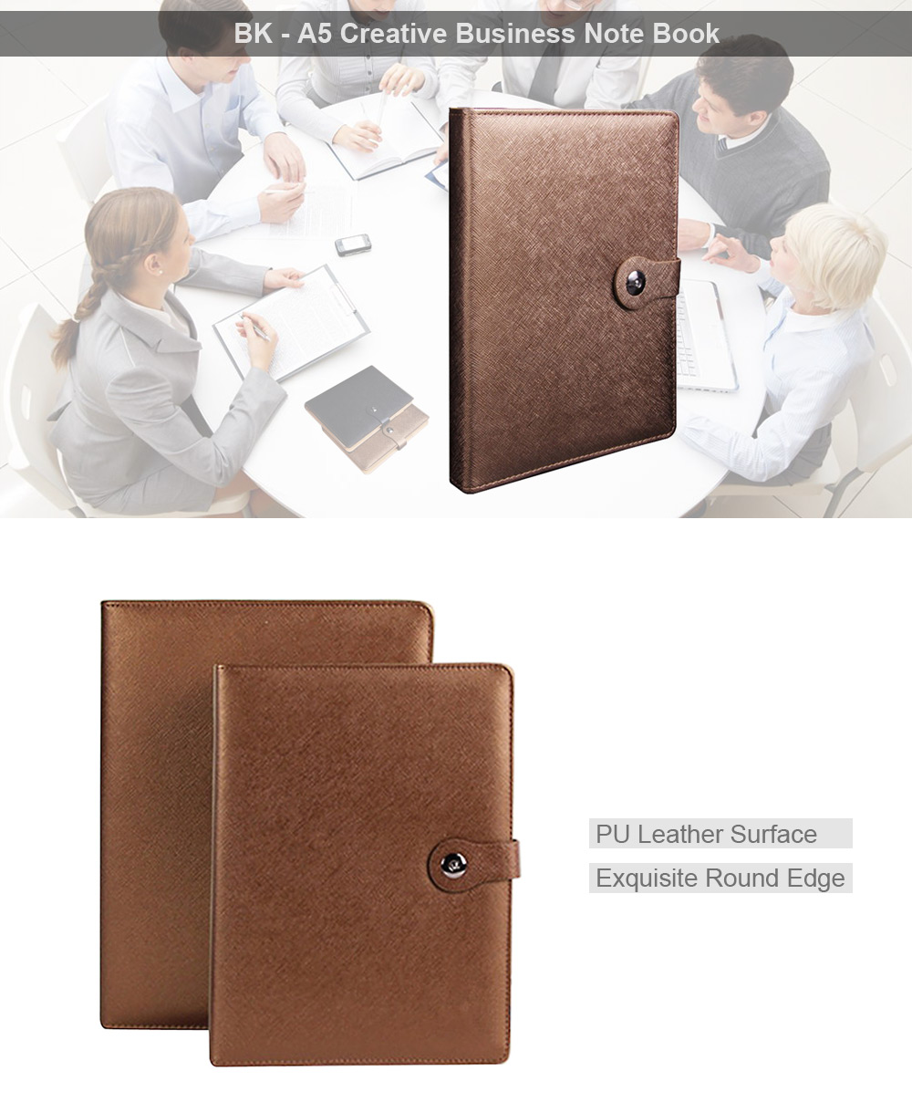 BK - A5 Creative Business Note Book with Card Slot