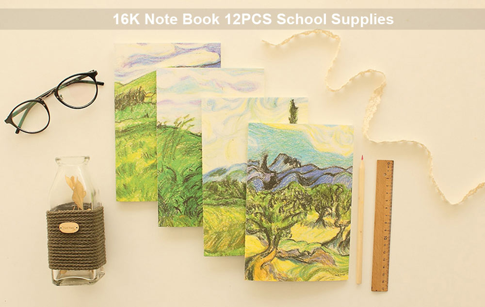 16K 12PCS Note Book School / Office Supplies with 38 Page