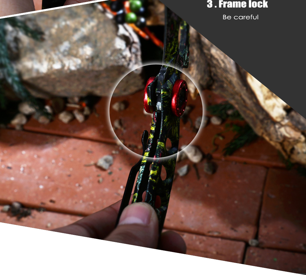 Portable Frame Lock Folding Claw Knife with Camouflage Blade